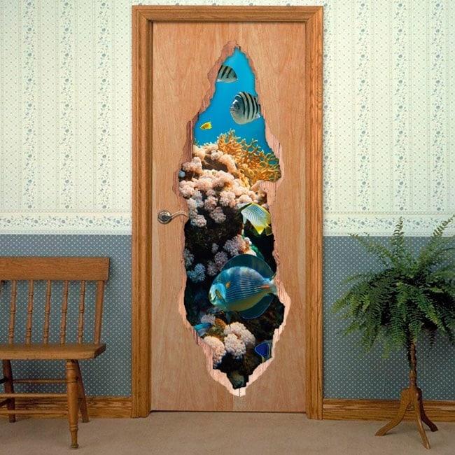 Doors Sea World 3D for vinyls