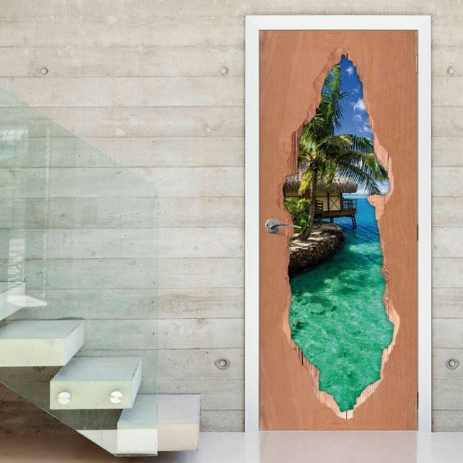 Doors paradise Tropical 3D for vinyls