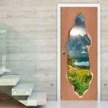 Doors nature in Slovakia 3D for vinyls