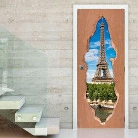 Doors Tower for vinyl Eiffel Paris 3D
