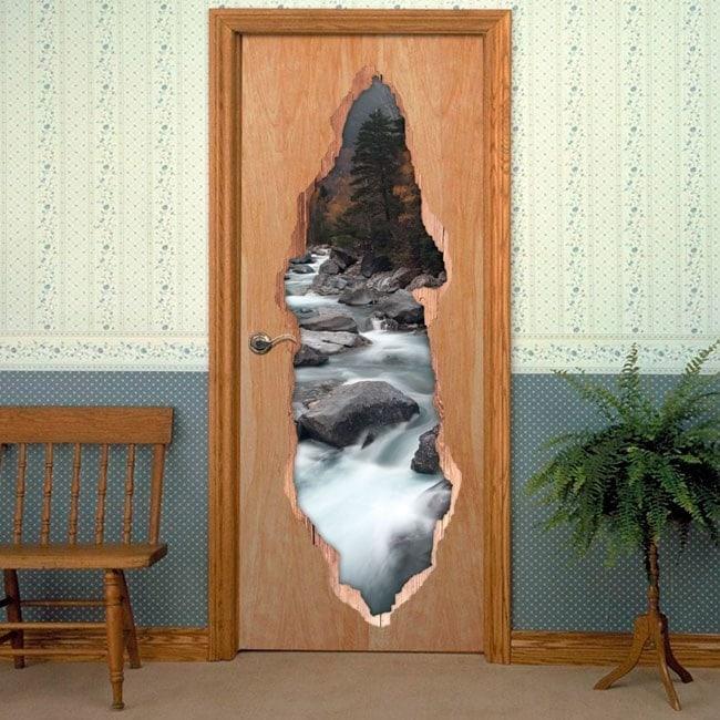 Vinyl for doors Brook mountains