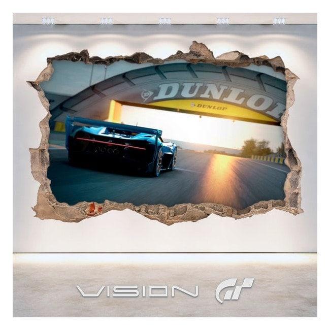 Vinyl large tourism Bugatti 3D Vision