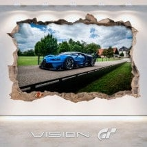 Luminescent panels dividing fluowall Bugatti 3D Vision great tourism
