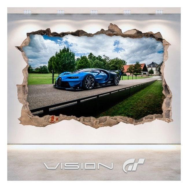 Luminescent panels dividing fluowall Bugatti 3D Vision great tourism