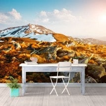 Photo wall murals snow mountains