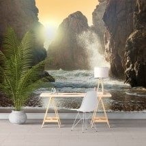 Photo wall murals Sun on the beach