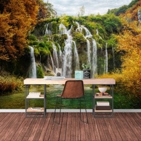 Photo wall murals waterfalls mountains