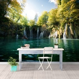 Photo wall murals waterfalls of Plitvice Lakes