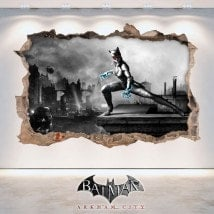 Vinyl and stickers 3D Batman Arkham City