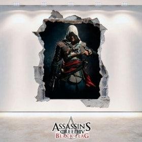 Decorative vinyl 3D Assassin's Creed Black Flag