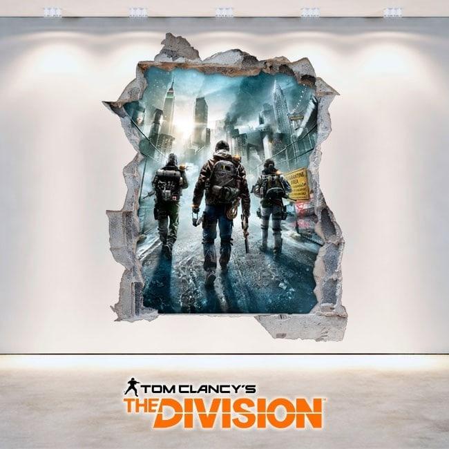 Decorative vinyl 3D Tom Clancy's The Division