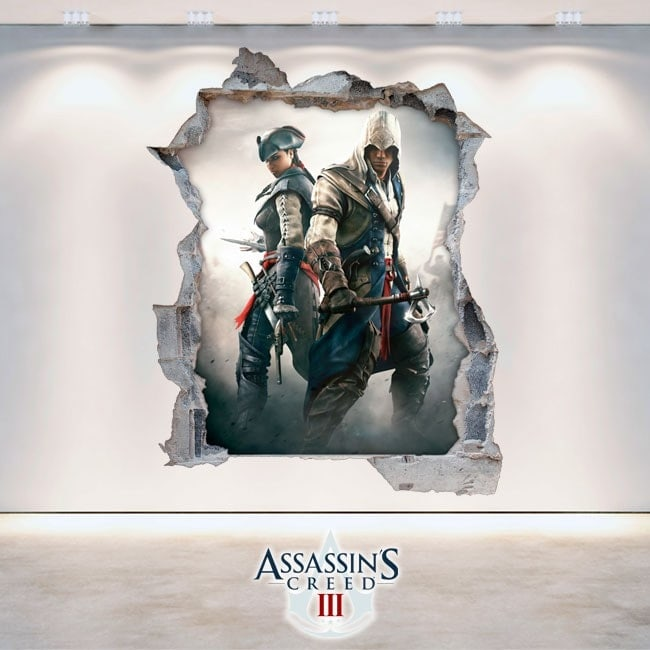 Vinyl and stickers 3D Assassin's Creed 3