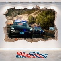 Decorative vinyl 3D Need For Speed Rivals