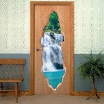 Vinyl doors Cascade Mountain English 6190