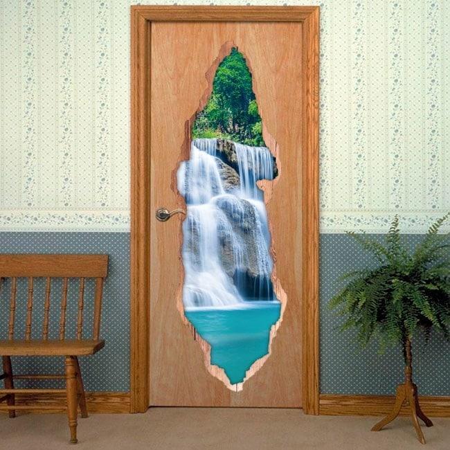 Vinyl doors Cascade Mountain English 6190