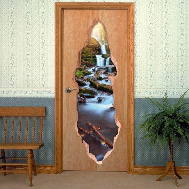Vinyl door waterfalls nature