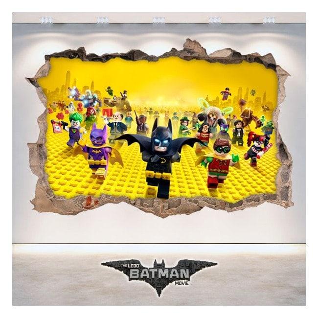 Decorative vinyl 3D Batman Lego