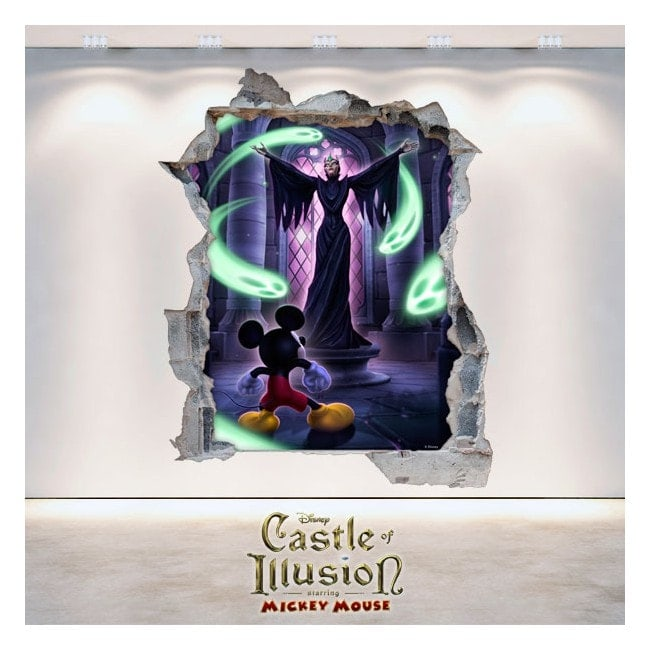 Decorative vinyl children's Castle Of Illusion 3D