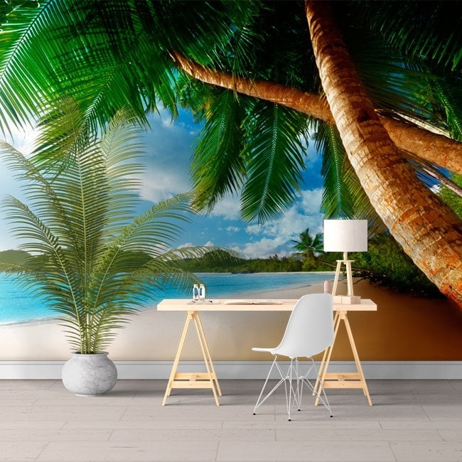Photo wall murals Palm trees on the beach