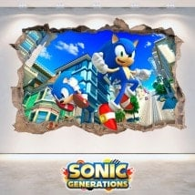 Decorative vinyl 3D Sonic Generations