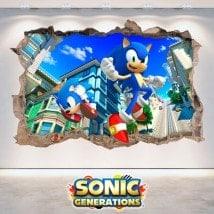 Decorative vinyl 3D Sonic Generations