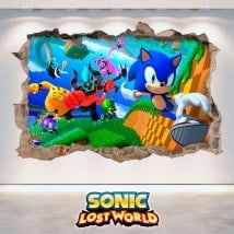 Decorative vinyl 3D Sonic Lost World