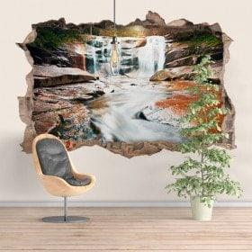 Vinyl decorative Cascades mountain 3D
