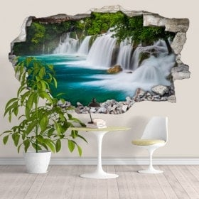 Vinyl 3D waterfalls in the forest