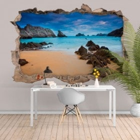 Decorative vinyl 3D sea and beach