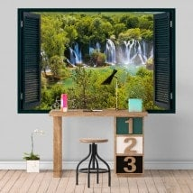 Vinyl Windows waterfalls nature 3D