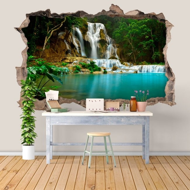 Vinyl waterfalls nature 3D