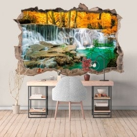 Vinyl waterfalls in the forest 3D