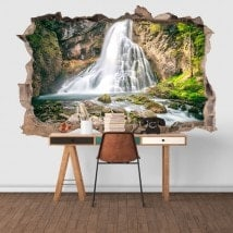 Decorative vinyl 3D waterfalls mountain