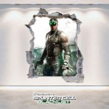 Decorative vinyl 3D Tom Clancy's Splinter Cell Blacklist