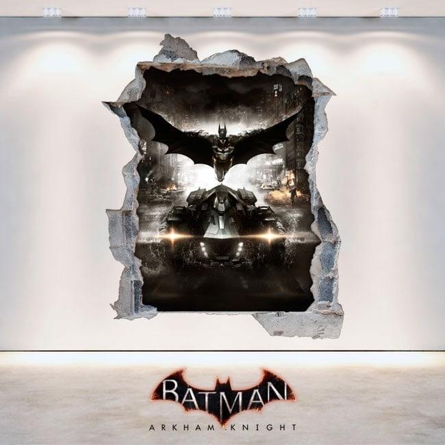 Decorative vinyl Batman Arkham Knight 3D