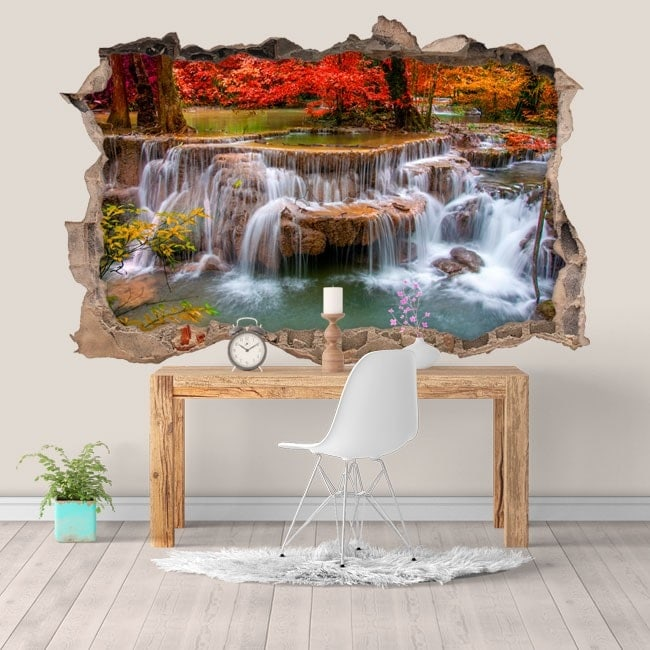 Stickers and vynils waterfalls nature 3D