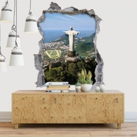 Decorative vinyl 3D Christ the Redeemer
