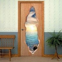 Doors sea sunset 3D for vinyls