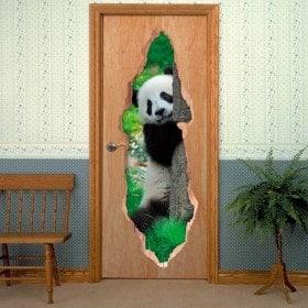 Vinyl doors bear Panda 3D