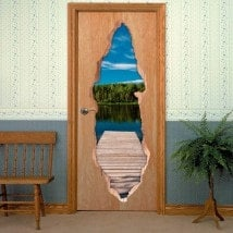 Bridge Lake 3D doors vinyl