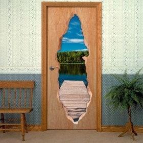 Bridge Lake 3D doors vinyl