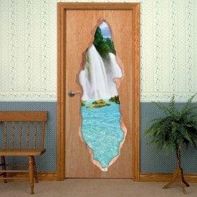 Vinyl door waterfalls 3D