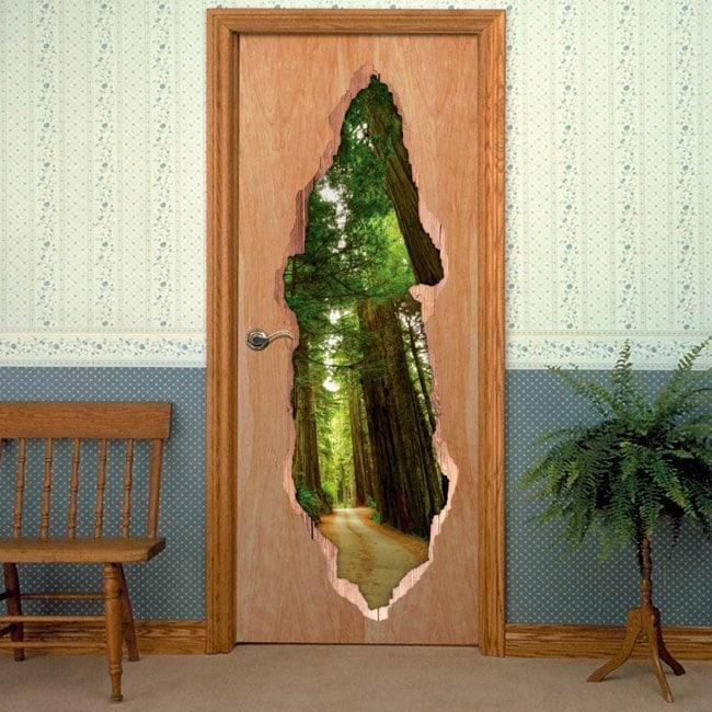 Vinyl for doors way Sequoias 3D