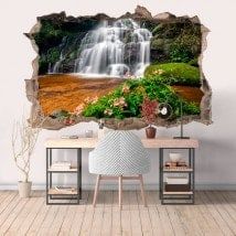 Vinyl decorative 3D waterfalls and nature