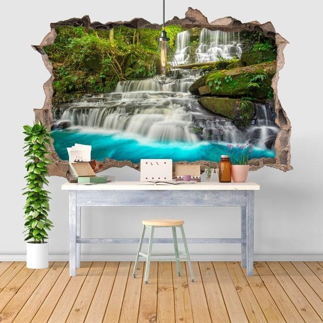 Vinyl decorative waterfalls in 3D nature