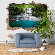 Decorative vinyl 3D waterfalls nature