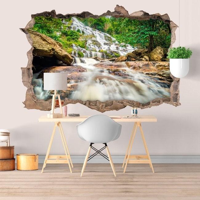 3D waterfalls decorative vinyl