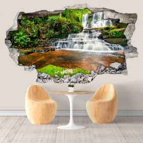 Vinyl decorative waterfalls in Thailand 3D