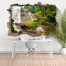 Decorative vinyl 3D waterfalls Thailand