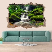 Decorative waterfalls Thailand 3D